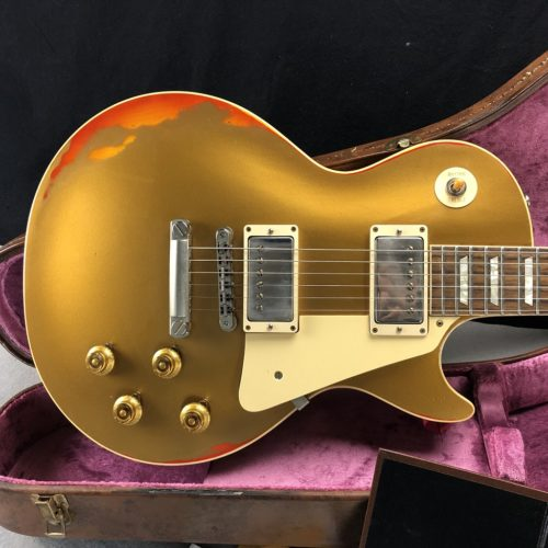 2017 Gibson Les Paul Custom Shop AGED all gold over sunburst