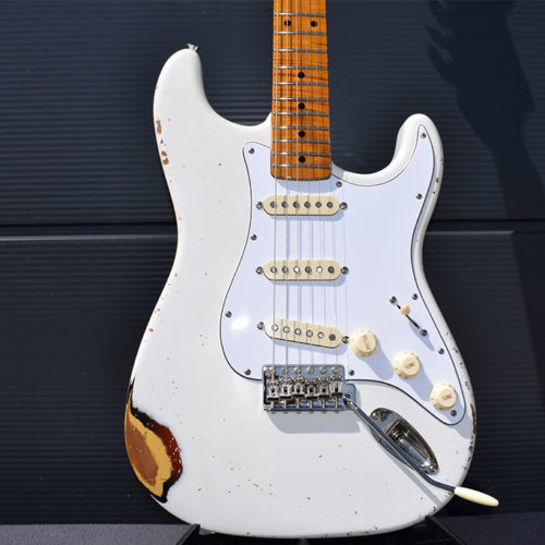 DÉsse Soundscape Completely Roasted S-Type in Olympic White over 3Tone Sunburst