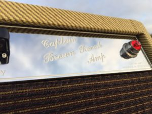 Captain Brown Reverb Sonderanfertigung Tweed mit Chrom-Frontplatte
