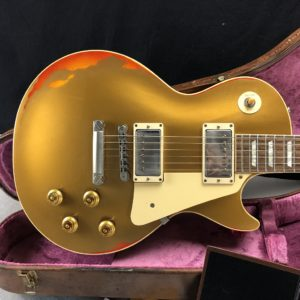 2017 Gibson - Les Paul - Custom Shop 1 of 50 - Aged - Gold over Sunburst - - ID 287