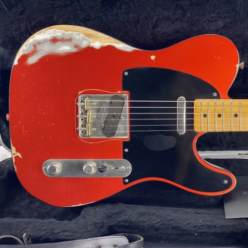 2011 Fender - Telecaster '50s Relic - Candy Tangerine - Custom Shop - ID 1563
