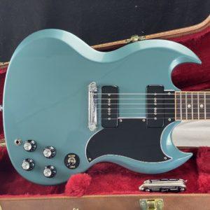 2019 Gibson SG - Special Faded Pelham Blue + Seymour Duncan Hot P-90 - ID 1577